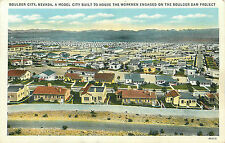 BOULDER CITY NV BIRD'S-EYE VIEW 1934 LINEN P/C