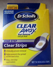 Dr. Scholls Clear Away One Step Wart Remover clear strips - 14 Medicated strips