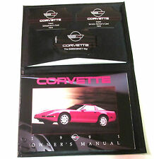 GM 1991 Chevy Corvette Owner's Manual (o) #10193576B