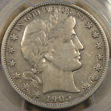 1905-S Barber Half Dollar PCGS VF 30 Light gray with some luster