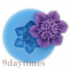 Mini Flower Silicone Mold Mould For Polymer Clay Craft Fimo Jewelry 20mm A331