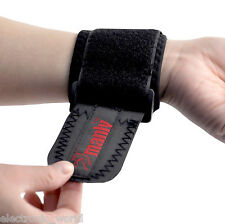 Elastic Neoprene Wrist Support Sports Brace Adjustable Tennis Strap Weight Black