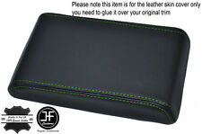 GREEN STITCHING ARMREST LID LEATHER COVER FITS HOLDEN COMMODORE VL