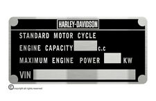 HARLEY DAVIDSON  SOFTAIL data plate quality vin-tage new