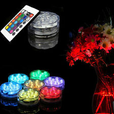 Battery Waterproof Tea Light Remote10 Leds Rgb For Vase Wedding Party Fish Decor