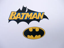 Batman Phrase/Image and Logo Set Cardstock Die Cuts for Scrapbooking/Cards