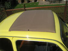 Fiat 500 DFLR Abarth 126 Classic Mohair Fabric Sunroof Canvas Cover Black Grey