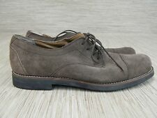 Tommy Hilfiger Brown Suede Leather Oxford Shoes Men's Size 12 M Lace Up Casual