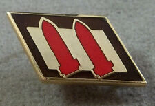 US Army 2nd Coast Artillery Patch Style Unit Crest Insignia / Clutchback