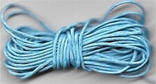 2 x 3m lengths of waxed cotton cord for jewellery making and crafts