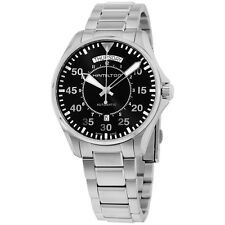 Hamilton Pilot Day Date Automatic Black Stainless Steel Men's Watch H64615135