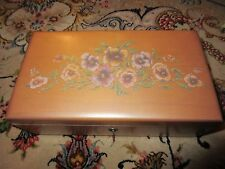 Lane Small Cedar Chest w/ Painted Flowers with Key 1993