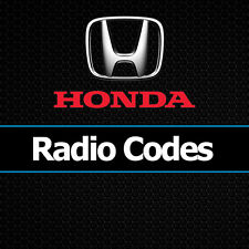 Honda Radio Codes Civic CRV Jazz Accord Insight Unlock Car Decode Code UK