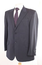 NEXT NAVY PINSTRIPE MEN'S SUIT 42R DRY-CLEANED
