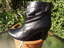 EDINA RONAY SMART LEATHER ANKLE BOOTS WITH BOW DETAIL SIZE 6