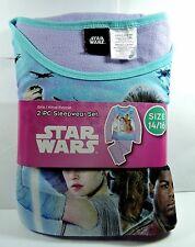New Girls Disney STAR WARS  Flannel Pajamas 2 piece Sleep wear Set Size 14/16