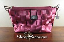 Harvey's Seatbelt Bag Large Zipper Tote Red - Magenta with Star Key Ring