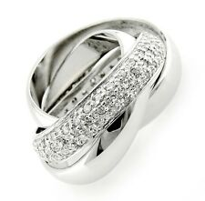 Sterling Silver 3-piece Interlocked Band Ring Set Size 9