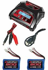 New RedCat HX-403 Dual Port AC/DC Charger & 2 Volcano 18 V2 Li-ion Batteries