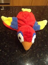 Rare DREAM Plush Red Blue Parrot Bird HAND GLOVE PUPPET