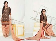 Semi Stiched Salwar Kameez Suit Indian Designer Bollywood Wear
