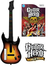 NEW Nintendo Wii Guitar Hero World Tour Wireless Guitar & Aerosmith Game Bundle