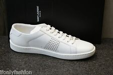 NIB AUTHENTIC YSL SAINT LAURENT PARIS FASHION SNEAKERS Flat TENNIS Shoes 38