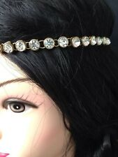 New Gold Hair Head Band Crystal Diamante Headband Head Chain Head Piece Jewelry