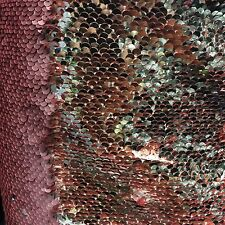 Dusty Pink And Gold Mermaid Reversible Sequin On Spandex Fabric Sold By Yard
