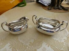 BEAUTIFUL ART DECO SILVER PLATED CREAM JUG & SUGAR BOWL   #150317120/123