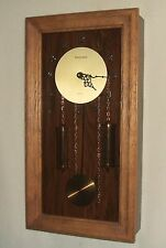 Commodore Oak Wall Clock with Faux Weights and Progressive Westminster Chimes