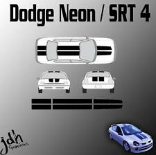 Dodge Neon or SRT-4 Rally Racing Stripes Vinyl Decal Sticker Graphics Kit Car