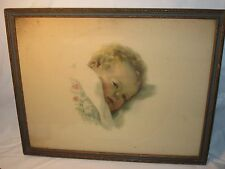 Vintage Bessie Pease Gutmann On Dreamland's Border Rectangular Frame