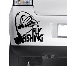 FLY FISHING  Car Window Bumper Wall JDM Fishing Novelty Vinyl Decal Sticker