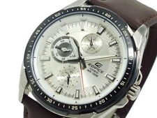 CASIO EDIFICE 100M EF336L-7A EF-336L-7A Leather Band Free Ship!