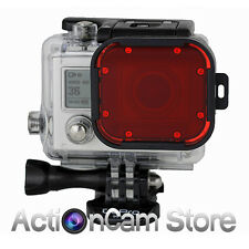 RED FILTER GOPRO HERO3 & 60M DIVE HOUSING Polar Pro Aqua Snap On Hero 3