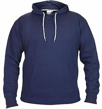 Mens Boys Fleece Plain Hoodie Sweatshirt Hooded Pull Over Casual Gym Adult Top
