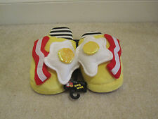 Slippers Fried Eggs Bacon size XL Nom Nom bedroom shoes men women new with tags