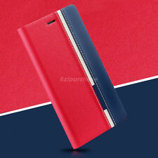 Luxury Slim Leather Card Slots Flip Wallet Stand Case Cover For Smartphone S001