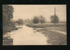 Lincolnshire Lincs CONINGSBY Church and river c1920s? PPC