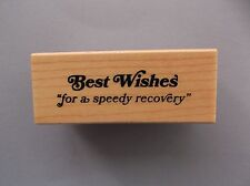 INKADINKADO RUBBER STAMPS BEST WISHES FOR A SPEEDY RECOVERY NEW STAMP