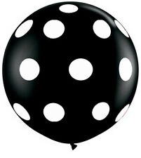 "Qualatex 36"" Giant Black Polka Dot Round Large Balloon 36 inch Balloon"