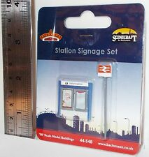 Bachmann 00 Scenecraft 44-548 - Station Signage Set - New. (00)