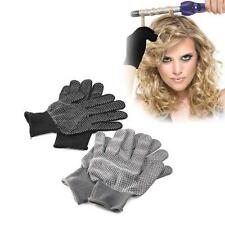 1 Pair Hair Straightener Curling Tong Hairdressing Heat Resistant Finger Gloves