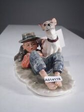 +*A014118 Goebel  Archivmuster N.Rockwell Figurines Boy Resting,Dog Nearby TMK3