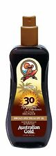 Australian Gold SPF 30 Spray Gel WITH BRONZER Outdoor Tan Protection