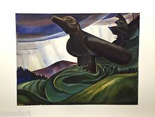 "Emily CARR "" Big Raven "" Out of print Group of Seven art Rainforest Totem Pole"