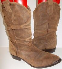 Womens ZODIAC Brown Suede Pull On Western Boots 10 USA
