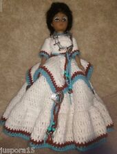 Handmade Native Indian Crochet Doll w/ Stand