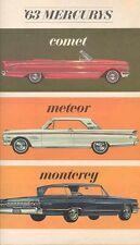 1963 Mercury Comet Meteor Monterey Sales Brochure mw3951-UJJ8BW